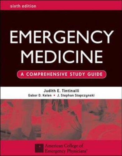 9780071388757: Emergency Medicine: A Comprehensive Study Guide, Sixth edition
