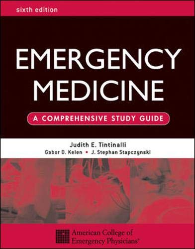 9780071388757: Emergency Medicine: A Comprehensive Study Guide 6th edition