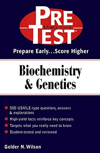 9780071389372: Biochemistry & Genetics: Pretest Self-Assessment & Review