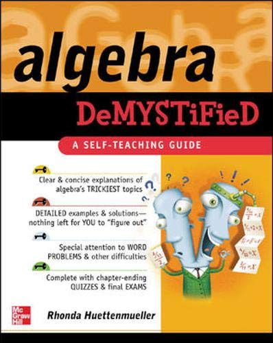 9780071389938: Algebra Demystified : A Self Teaching Guide (Demystified)