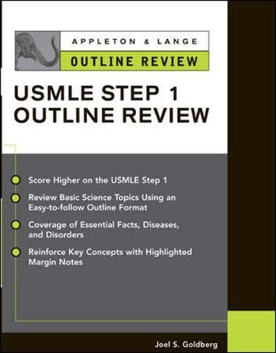 9780071390170: Appleton & Lange Outline Review for the USMLE Step 1
