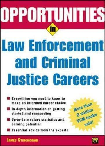 9780071390385: Opportunities in Law Enforcement and Criminal Justice Careers Rev. Ed.