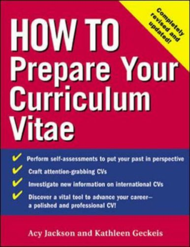 9780071390446: How to Prepare Your Curriculum Vitae (How To?series)