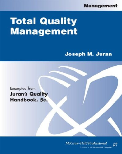 9780071390637: Total Quality Management