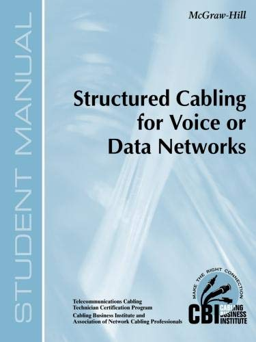 9780071391276: Structured Cabling for Voice or Data Networks (300)
