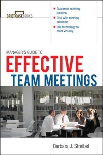 9780071391344: The Manager's Guide to Effective Meetings (Briefcase Books Series)