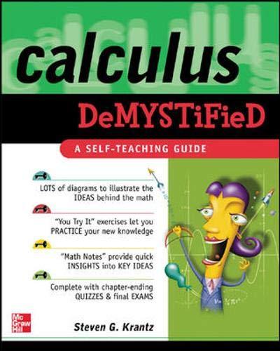 9780071393089: Calculus Demystified : A Self Teaching Guide (Demystified)