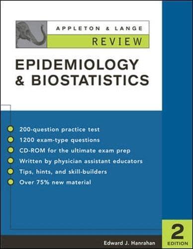 9780071393881: Appleton & Lange Review: Epidemiology & Biostatistics: Review -  Epidemiology and Biostatistics
