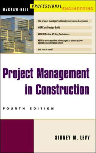9780071395878: Project Management in Construction