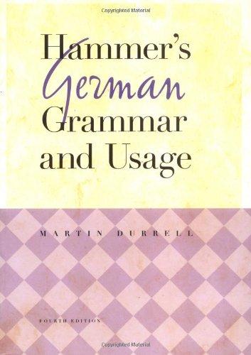 9780071396547: Hammer's German Grammar and Usage