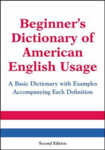 9780071396554: Beginner's Dictionary of American English Usage, Second Edition (McGraw-Hill ESL References)