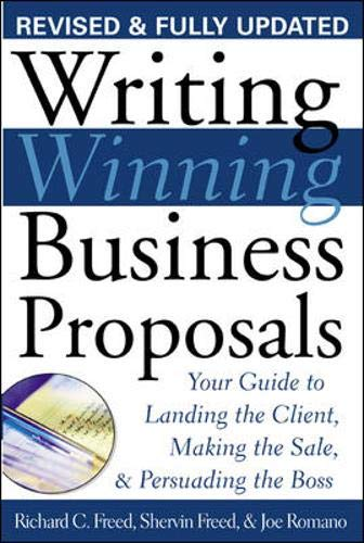 9780071396875: Writing Winning Business Proposals: Your Guide to Landing the Client, Making the Sale and Persuading the Boss