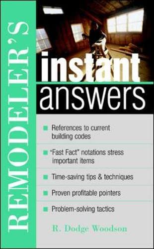 9780071398299: Remodeler's Instant Answers