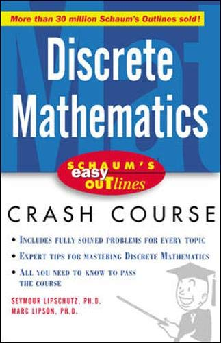 Schaum's Easy Outline of Discrete Mathematics (9780071398770) by Seymour Lipschutz; Marc Lipson