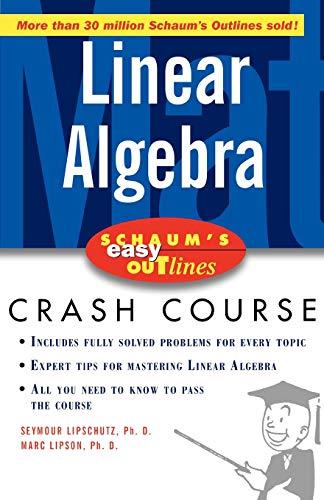9780071398800: Schaum's Easy Outline of Linear Algebra