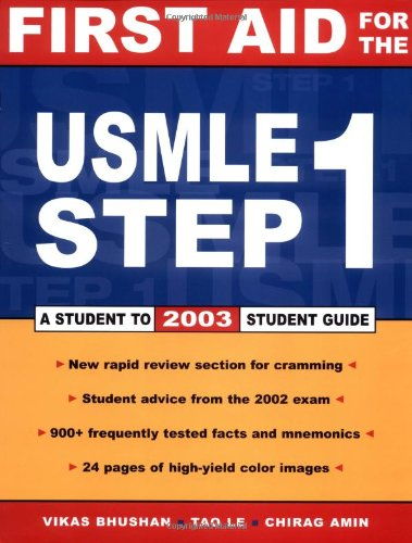 9780071399128: First Aid for the USMLE Step 1: 2003