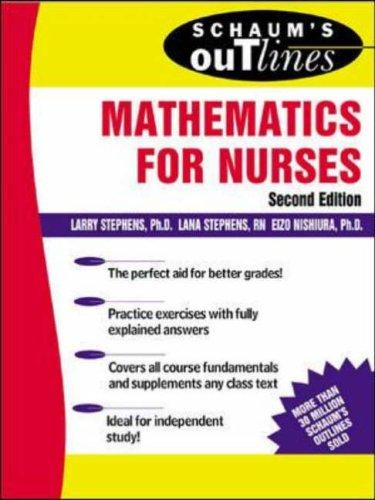 9780071400220: Schaum's Outline of Mathematics for Nurses (Schaums' Outline Series)
