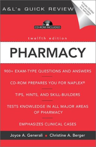 Pharmacy: 900 + Questions and Answers (0071402209) by Generali, Joyce A.