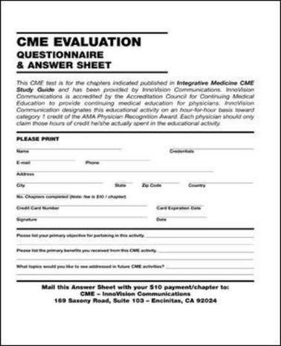 9780071402385: Integrative  Medicine CME Study Guide