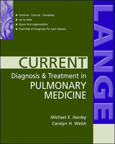 9780071402590: Current Diagnosis & Treatment in Pulmonary Medicine