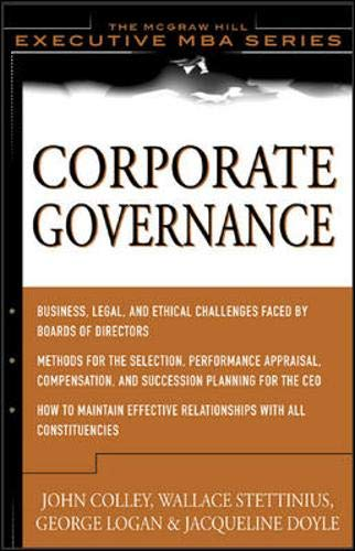 9780071403467: Corporate Governance : The McGraw-Hill Executive MBA Series