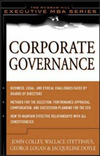 9780071403467: Corporate Governance (McGraw-Hill Executive MBA Series)
