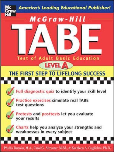 9780071405614: TABE Test of Adult Basic Education : The First Step to Lifelong Success