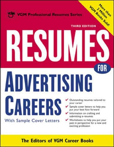 Resumes for Advertising Careers: Editors of VGM Career Books