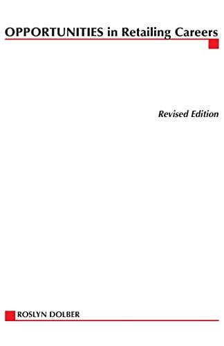9780071406024: Opportunities in Retailing Careers (Opportunities in ... (Paperback))