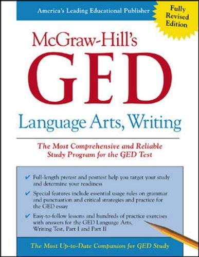 9780071407083: McGraw-Hill's GED Language Arts, Writing (Mcgraw-Hill's Ged Test Series)