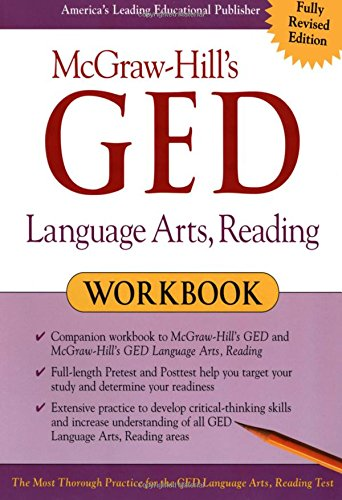 9780071407113: McGraw-Hill's GED Language Arts, Reading Workbook