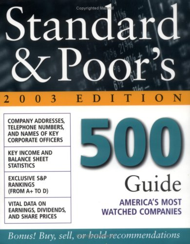9780071409339: Standard & Poor's 500 Guide : 2003 Edition
