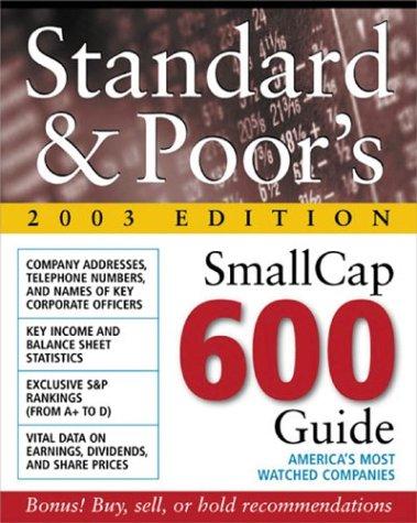 9780071409346: Standard & Poor's SmallCap 600 Guide 2003