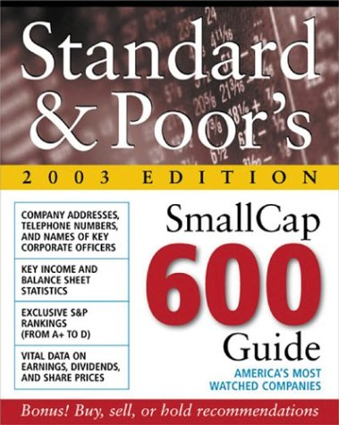9780071409346: Standard & Poor's Smallcap 600 Guide : 2003 Edition