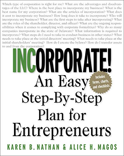 9780071409834: Incorporate! : An Easy Step-By-Step Plan for Entrepreneurs