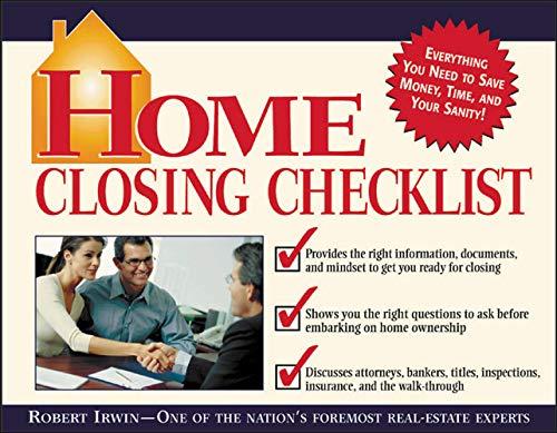 9780071409971: Home Closing Checklist