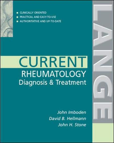 Current Diagnosis And Treatment In Rheumatology: Imboden John