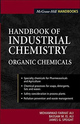9780071410373: Handbook of Industrial Chemistry: Organic Chemicals (Mechanical Engineering)