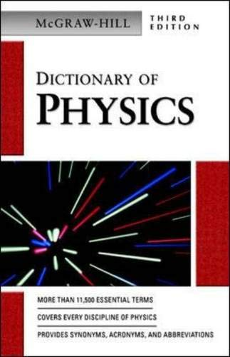 9780071410489: Dictionary of Physics