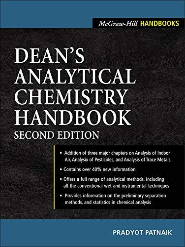 9780071410601: Dean's Analytical Chemistry Handbook (McGraw-Hill Handbooks)
