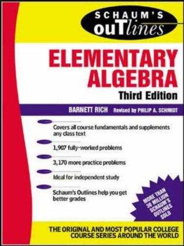 9780071410830: Schaum's Outline of Elementary Algebra (Schaum's Outline Series)