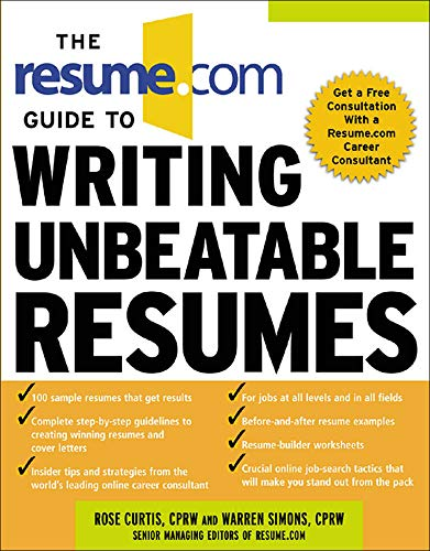 9780071411059: The Resume.Com Guide to Writing Unbeatable Resumes