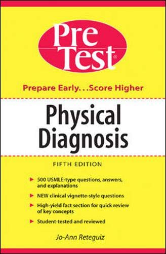 9780071411400: Physical Diagnosis: PreTest Self-Assessment and Review (Pretest Clinical Science)