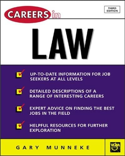 9780071411455: Careers in Law