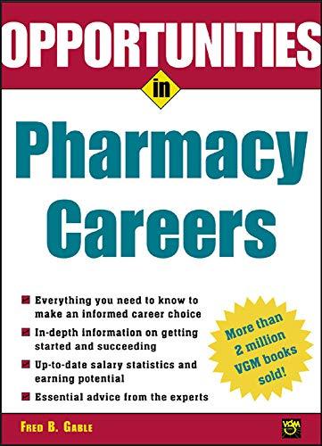 9780071411523: Opportunties in Pharmacy Careers