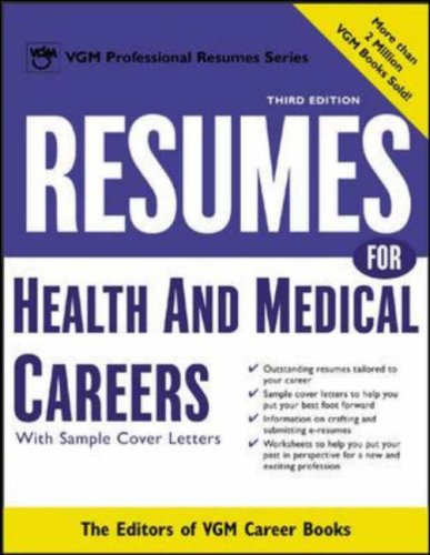 9780071411547: Resumes for Health and Medical Careers