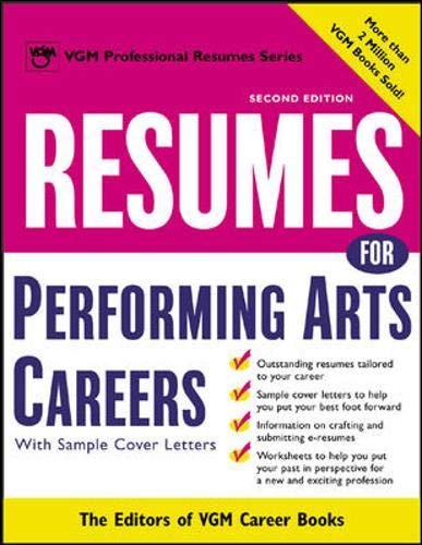 9780071411622: Resumes for Performing Arts Careers (McGraw-Hill Professional Resumes)