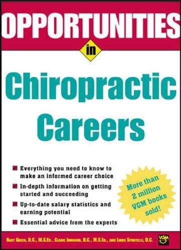9780071411646: Opportunities in Chiropractic Careers