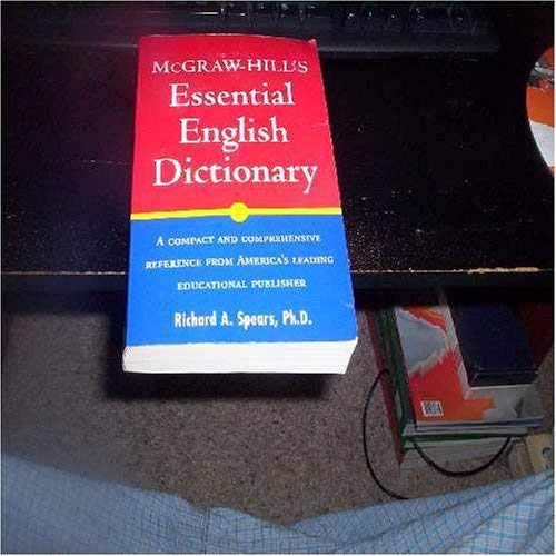 9780071411943: McGraw-Hill's Essential English Dictionary: A Compact and Comprehensive Reference from America's Leading Educational Publisher