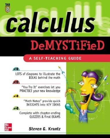 9780071412117: Calculus Demystified